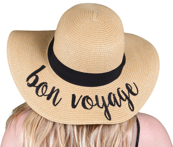 C.C Embroidered Sun Hat - Bon Voyage