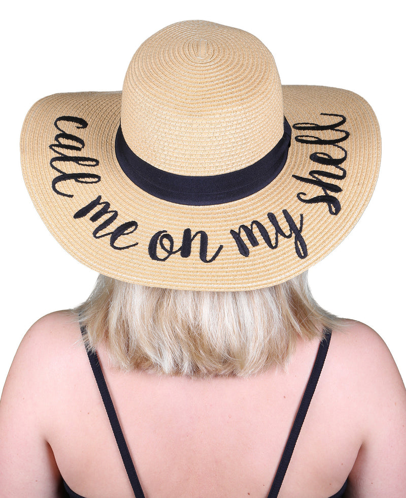 C.C Embroidered Sun Hat - Call Me On My Shell