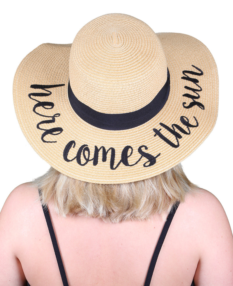 C.C Embroidered Sun Hat - Here Comes the Sun