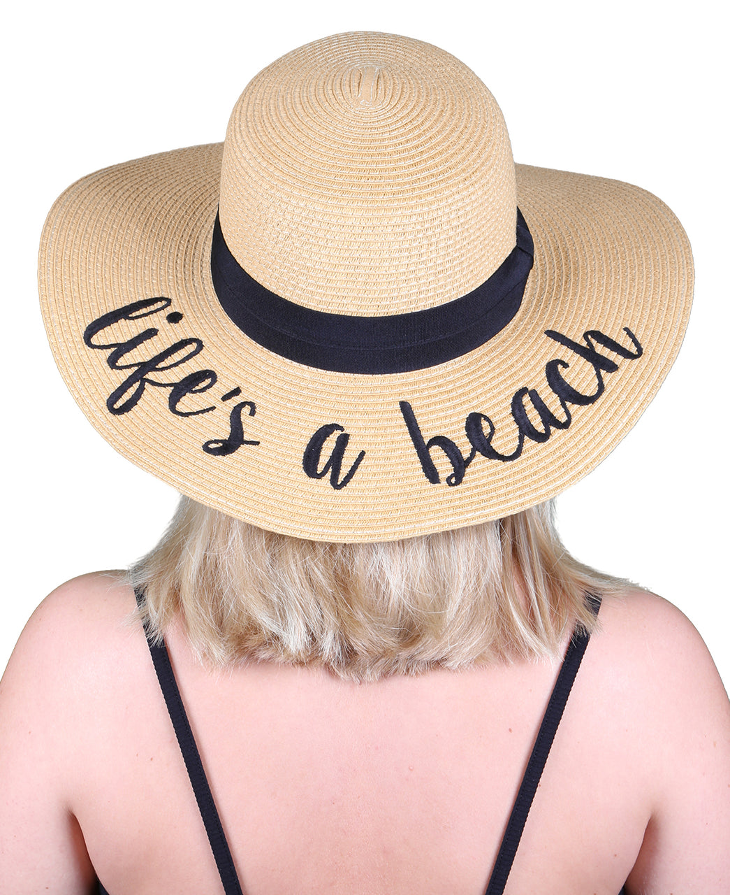 C.C Embroidered Sun Hat - Life's A Beach