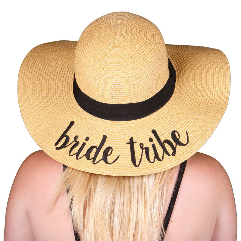 C.C Embroidered Sun Hat - Bride Tribe