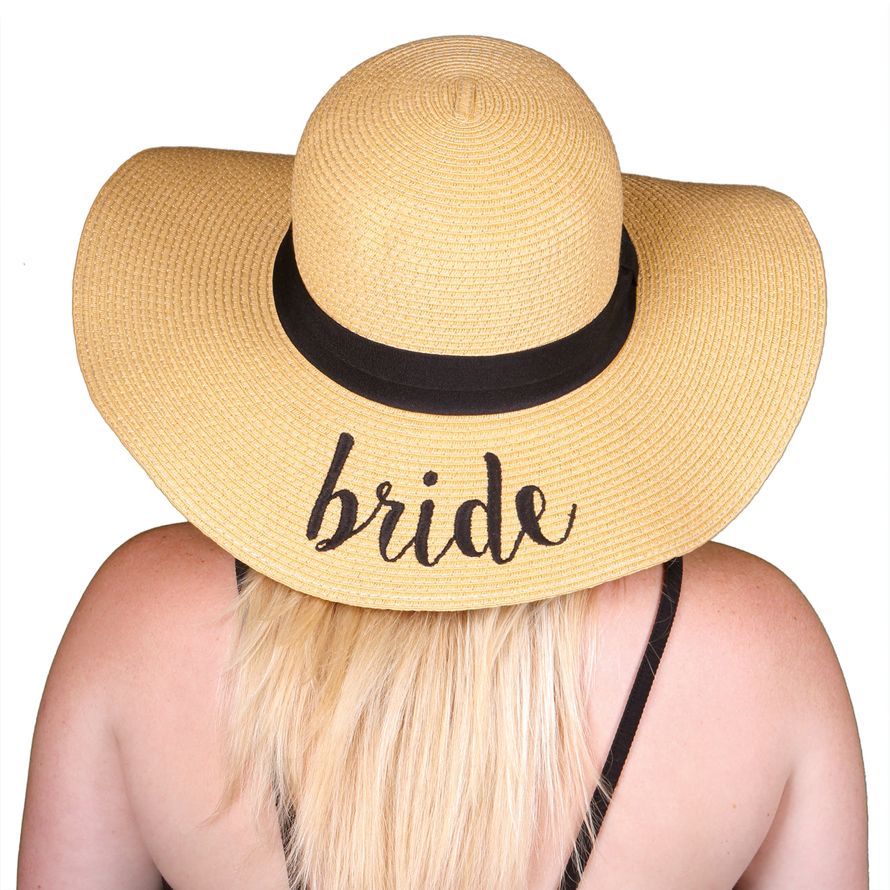 C.C Embroidered Sun Hat - Bride