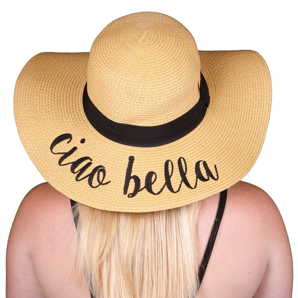 C.C Embroidered Sun Hat - Ciao Bella