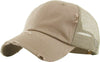 Distressed Trucker Hat - Khaki