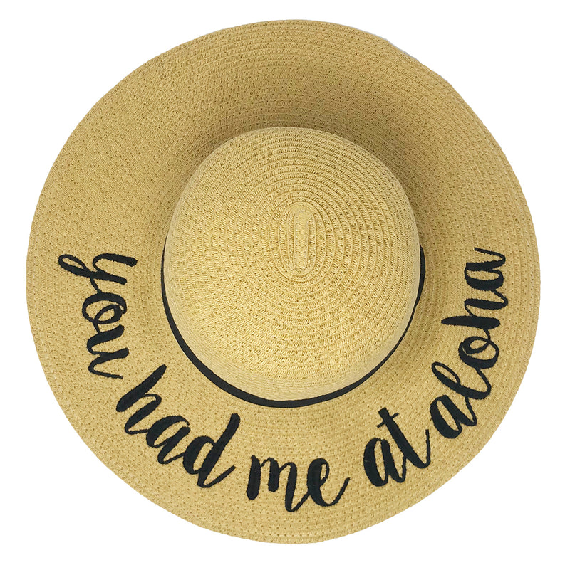 C.C Embroidered Sun Hat  - You Had Me at Aloha