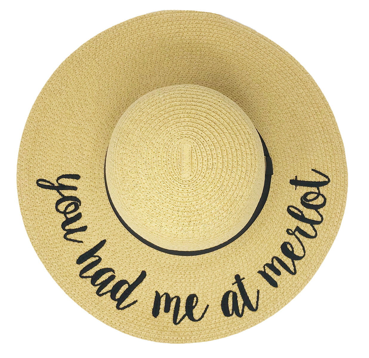 C C Embroidered Sun Hat You Had Me At Merlot Funky Junque