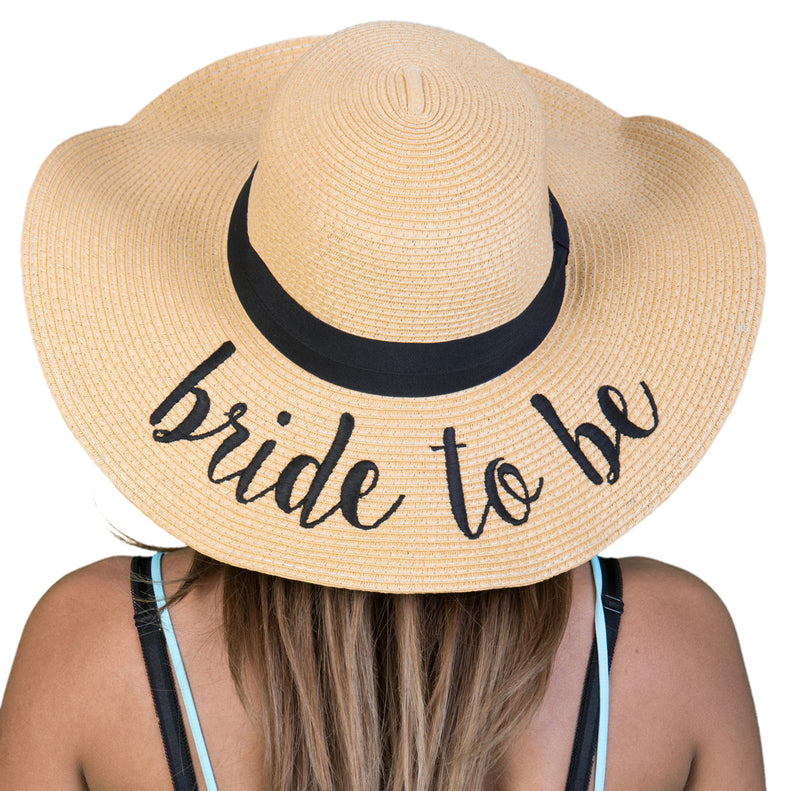 C.C Embroidered Sun Hat - Bride to Be