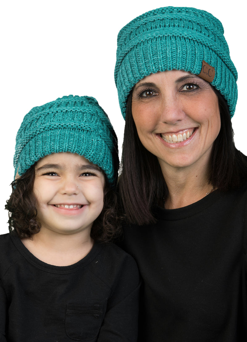 C.C Women & Children's Matching Beanie Bundle - Mint Mix #15