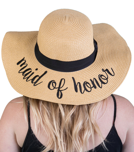 C.C Embroidered Sun Hat - Maid of Honor