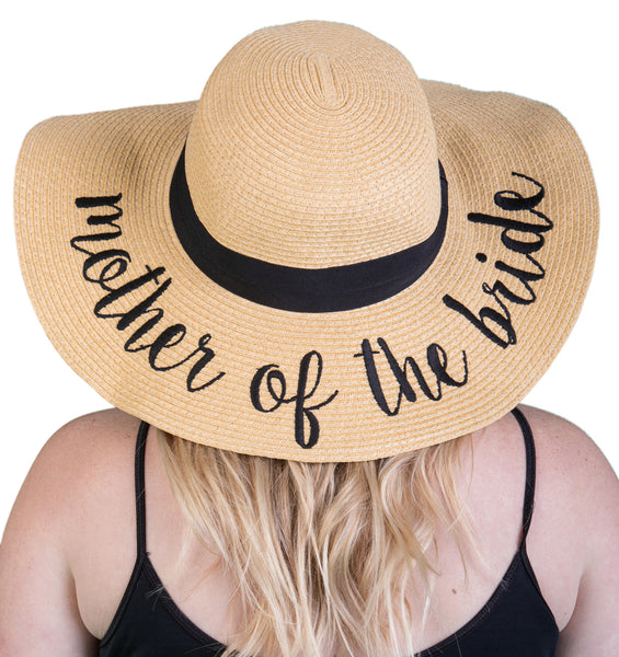 C.C Embroidered Sun Hat - Mother of the Bride