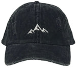 Unconstructed Dad Hat - Mountain (Distressed Black)