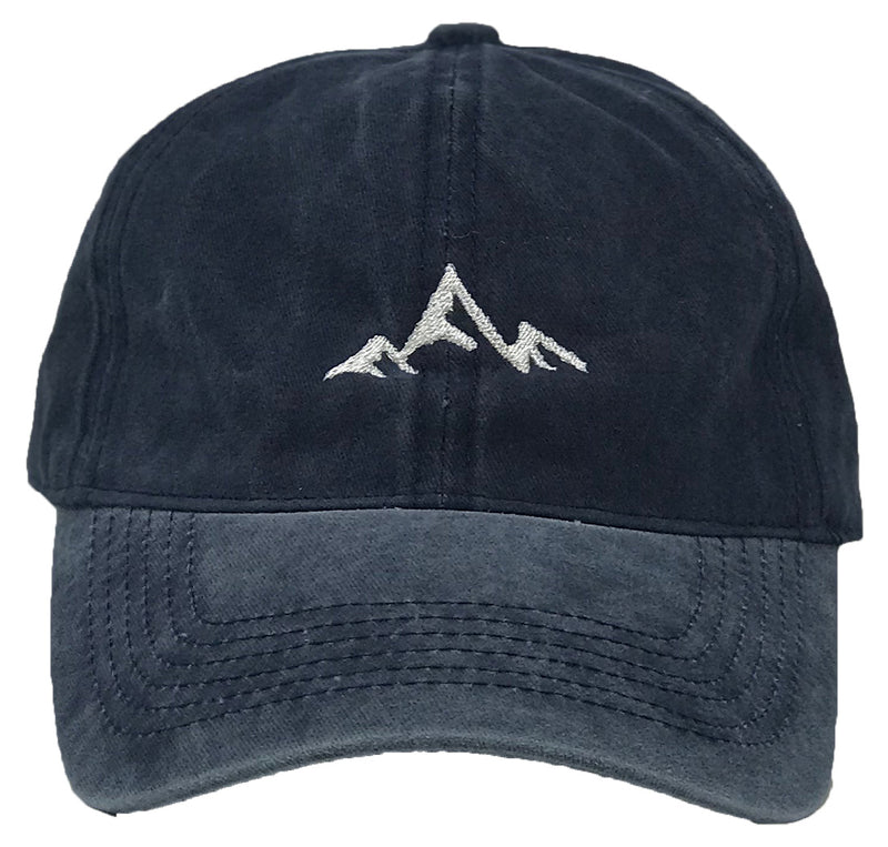 Unconstructed Dad Hat - Mountain (Washed Navy)