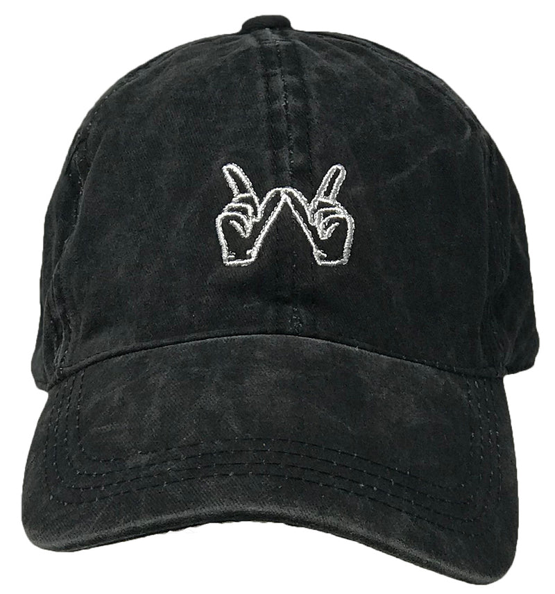Unconstruced Dad Hat - Whatever Icon (Washed Black)