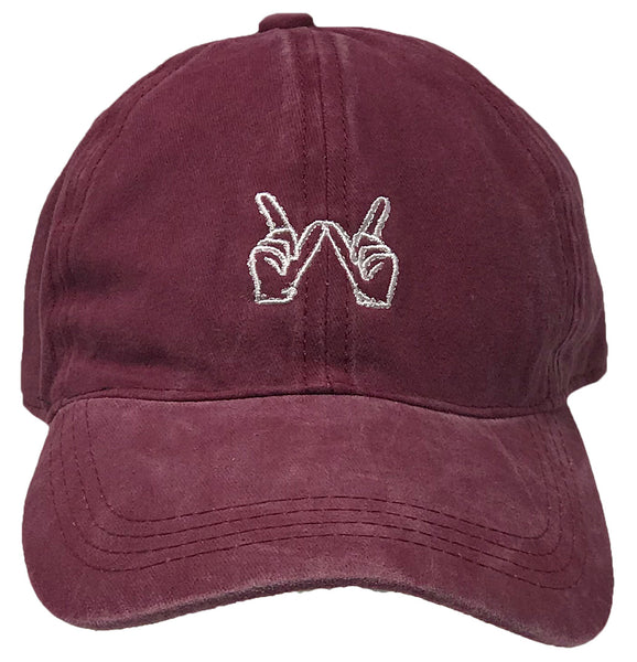 Unconstruced Dad Hat - Whatever Icon (Washed Burgundy)