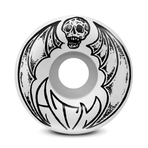 ATM Bat Skull 54mm Wheels (White)