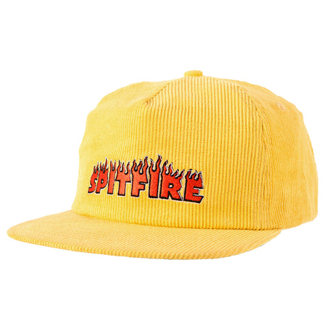 Spitfire Flash Fire Snapback Hat (Yellow)