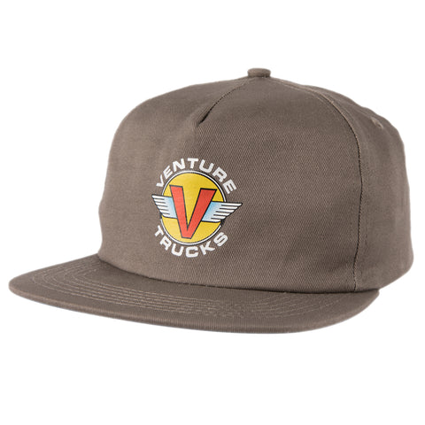 Venture Wings Snapback Hat (Charcoal)