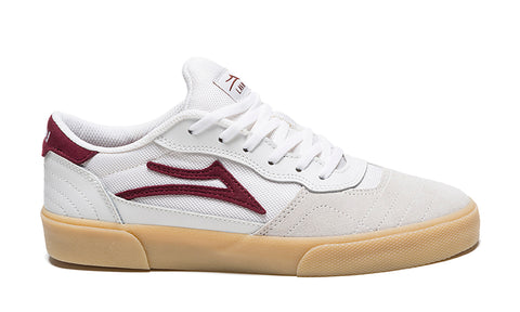 Lakai Cambridge (White/Burgundy Suede)