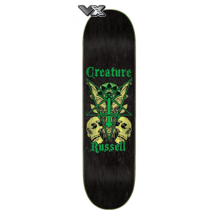 Creature Skateboard Deck Russell Coat of Arms VX 8.6in x 32.11in