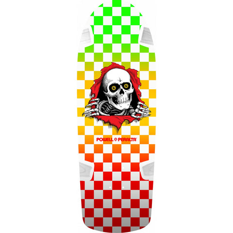 Powell Peralta OG Ripper Skateboard Deck Checker Multi Color 10""