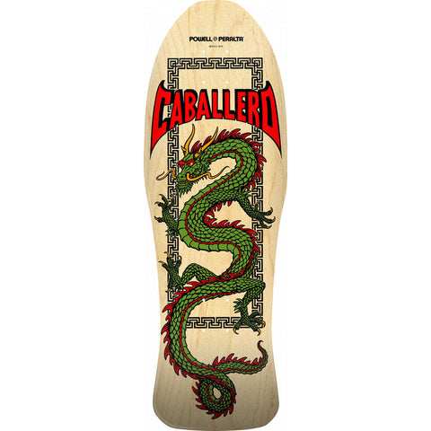 Powell Peralta Steve Caballero Chinese Dragon Natural Skateboard Deck - 10""