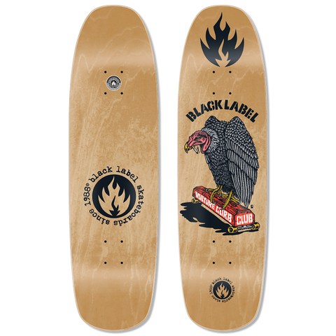 "Black Label Vulture Curb Club Deck (Natural Stain) 8.88"" x 32.25"""