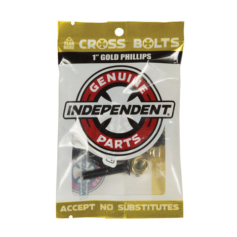 Independent Genuine Parts Phillips Hardware Black/Gold 1""