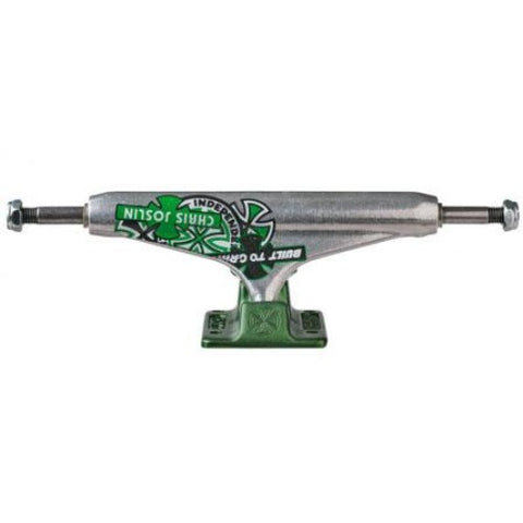Independent 139 Forged Hollow Chris Joslin Trucks (Silver / Green) 8.0""