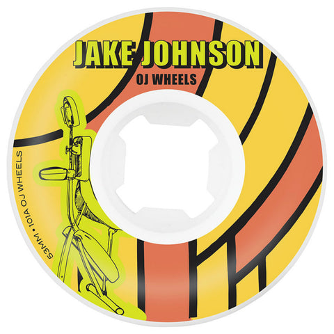 "OJ Johnson ""Sci-Fi EZ Edge"" Wheels (White): 53mm / 101A"
