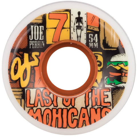 "OJ Perrin ""Last Of The Mohicans Keyframe"" Wheels (White): 54mm / 87A"