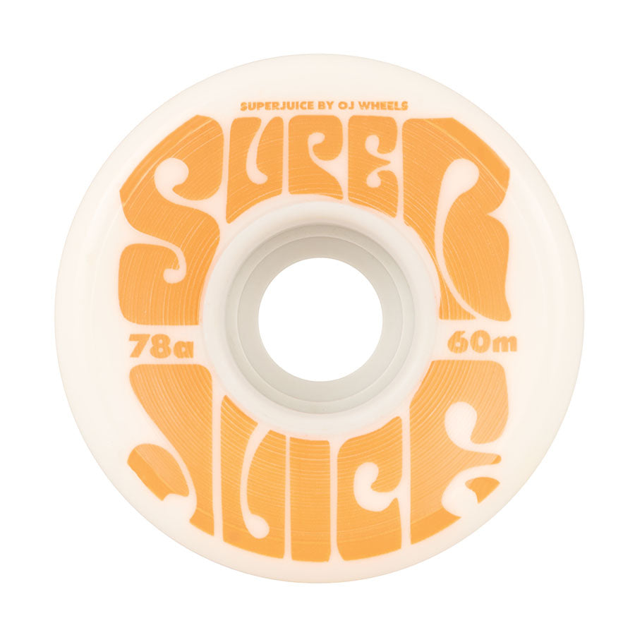 OJ Super Juice Wheels (White): 60mm / 78A