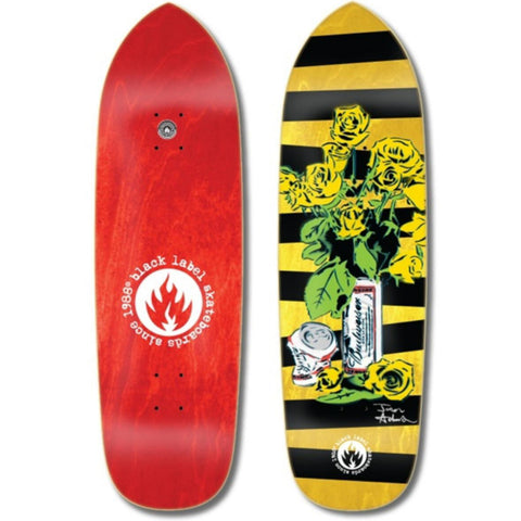 "Black Label Jason Adams Slim ""Beer & Roses"" Deck 8.6″"