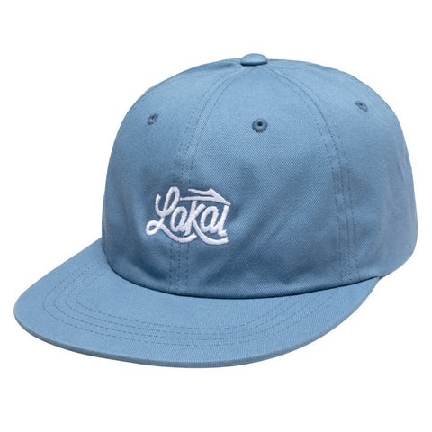 Lakai Sign Polo 6-Panel Snapback Hat (Indigo)