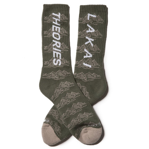 Lakai x Theories Pyramid Socks (Olive)