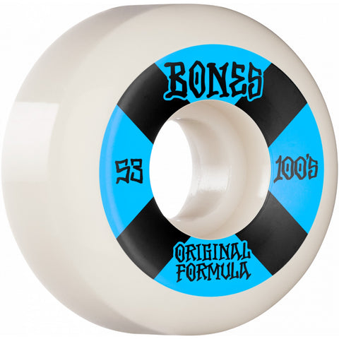 Bones 100's V5 Sidecut 53mm Wheels (White)