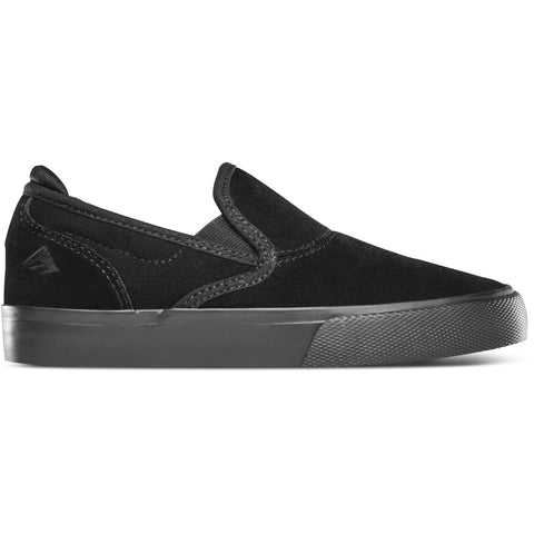 Emerica Kids Wino G6 Slip-On (Black/Black)