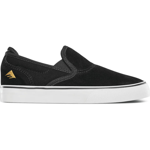 Emerica Kids Wino G6 Slip-On (Black/White/Gold)