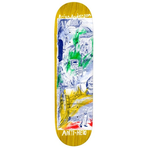 Antihero Brian Anderson SF Then and Now Skateboard Deck 8.5""