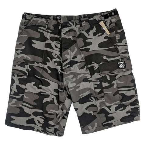 Energy Cargo Shorts (Black Camo)