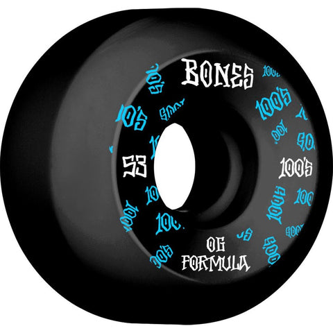Bones 100's V5 Sidecut 53mm Wheels (Black)