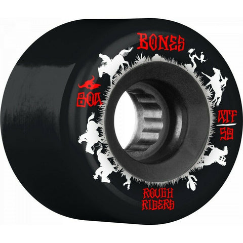 Bones Rough Rider Wranglers ATF 59mm 80A Wheels (Black)