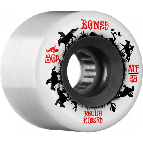 Bones Rough Rider Wranglers ATF 56mm 80A Wheels (White)