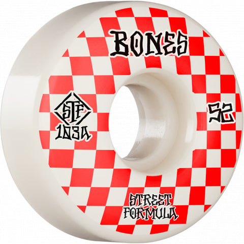 Bones Street Tech Formula Patterns 52mm 103A V3 Slims Wheels