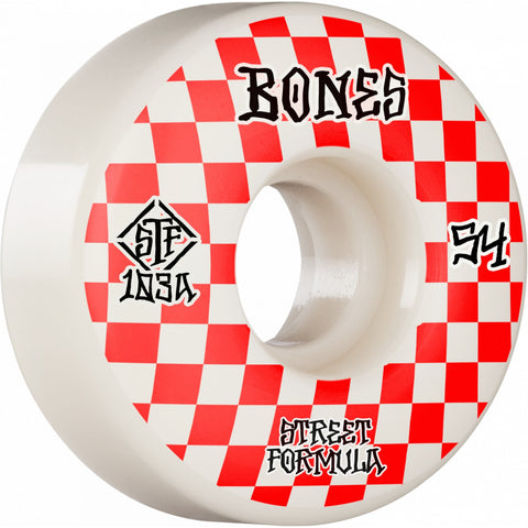 Bones Street Tech Formula Patterns 54mm 103A V3 Slims Wheels