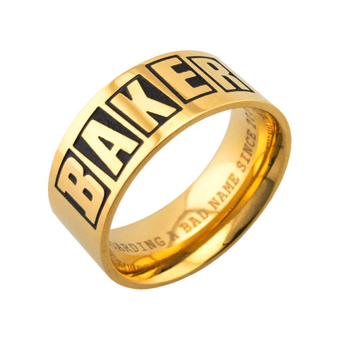 Baker Brand Logo Gold Ring