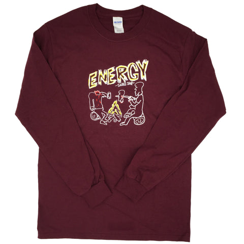 Energy Campfire Long Sleeve Shirt (Maroon)