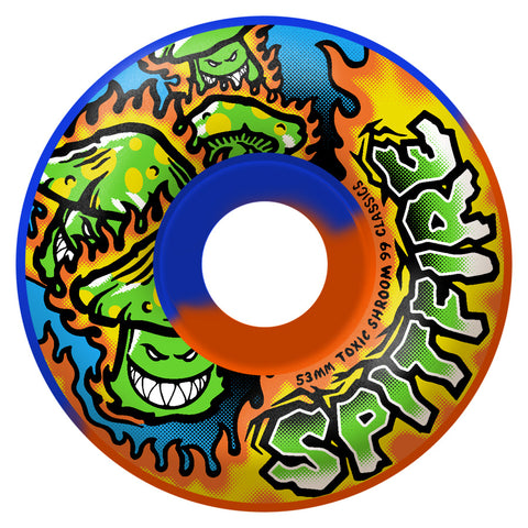 Spitfire Toxic Shrooms 55mm Classic Wheels (Blue Orange Swirl)