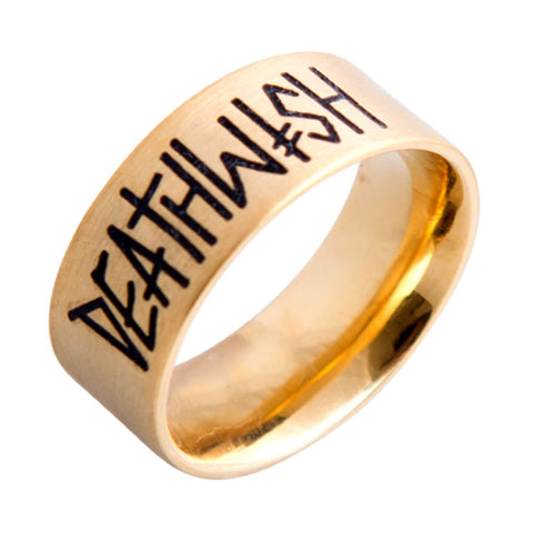 Deathwish Deathspray Gold Ring