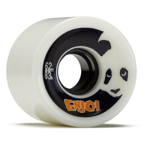 Enjoi Astro Panda 62mm 83A Wheels (Glow In The Dark)