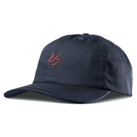 éS Script 6 Panel Hat (Navy)